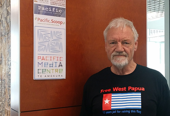 "PMC's Professor David Robie ... growing ""global groundswell"" of West Papua awareness. Image: Alistar Kata/PMC"