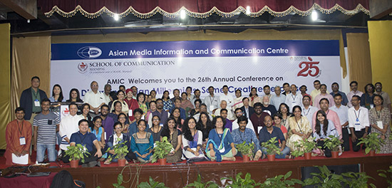 Some of the participants at the AMIC2018 conference in Manipal, Karnataka, South India, this month. Image: AMIC2018