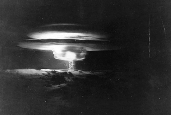 Castle BRAVO, 62 seconds after detonation.