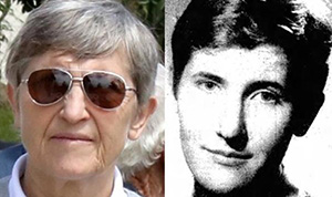 Former French spy Christine Cabon today ... and in 1985. Image: Ascencion Torrent/Sunday Star-Times