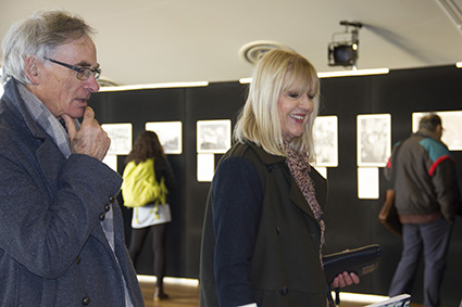 AUT's Professor Desna Jury and her husband Denis... delighted by the student productions. Image: Del Abcede/PMC