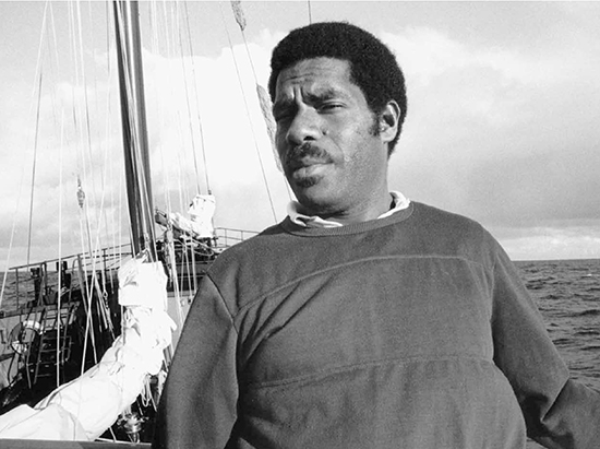 Charles Rara, the Vanuatu government representative on board the Rainbow Warrior in July 1985. Image: David Robie/Eyes of Fire