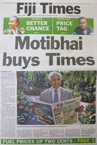 The enforced sale of The Fiji Times (Photo: David Robie/PMC)
