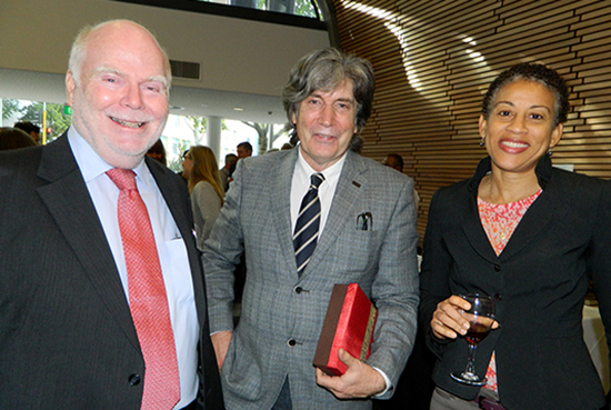 Professor Ian Richards of the University of South Australia (from left), AUT Vice-Chancellor Derek McCormack and Associate Professor Camille Nakhid of the PMC Advisory Board. Image: Del Abcede/PMC