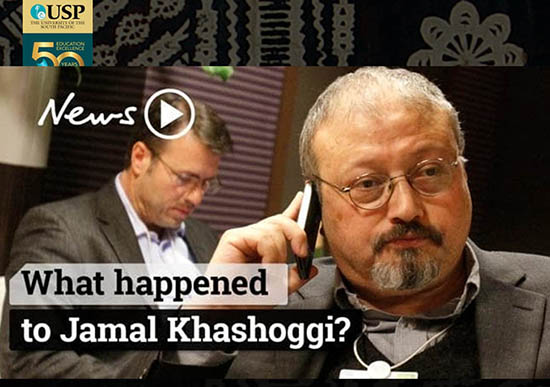 The fate of Jamal Khashoggi. From the talk slides.