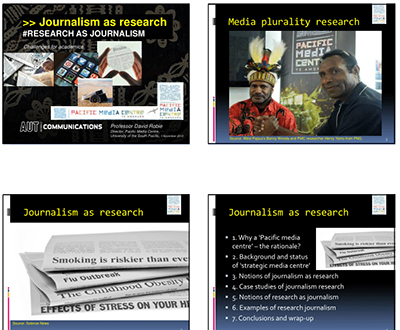 Journalism as research - Research as journalism