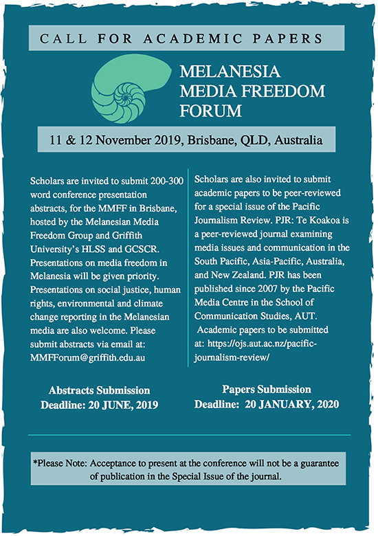 "The Melanesian Media Freedom Forum … ""an opportunity to address the challenges media freedom faces throughout the region."" Image: MMFF"