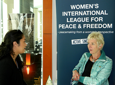 WILPF secretary-general Madeleine talks about creating a solid women's peace movement. Image: Del Abcede/ PMC