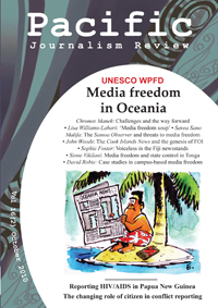 Latest edition of Pacific Journalism Review.