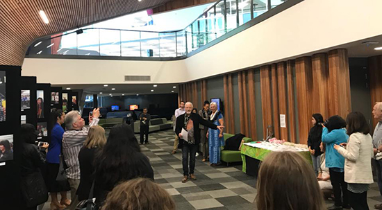 Launching of the new book Conflict, Culture & Conscience: Photojournalism and the Pacific Media Centre 2007-2017 at AUT last night. Image: Louise Matthews