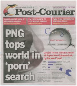 The PNG Post-Courier front page on January 17.