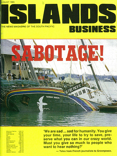 David Robie's cover story in the August 1985 edition of Islands Business. Photo by John Miller.