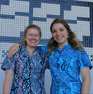 The PMC's Bearing Witness project team … Pacific Media Watch contributing editor Kendall Hutt (left) and Julie Cleaver. Image: USP