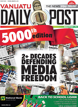 The 5000th edition of the Vanuatu Daily Post.