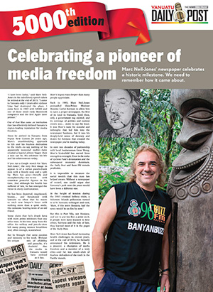 Marc Neil-Jones … fearless dedication to truth. Image: Vanuatu Daily Post