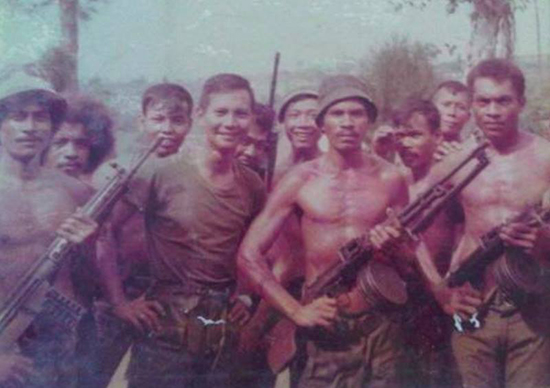 Prabowo (second from left) in Timor-Leste during the late 1970s. Source: @ReesEdward on Twitter.
