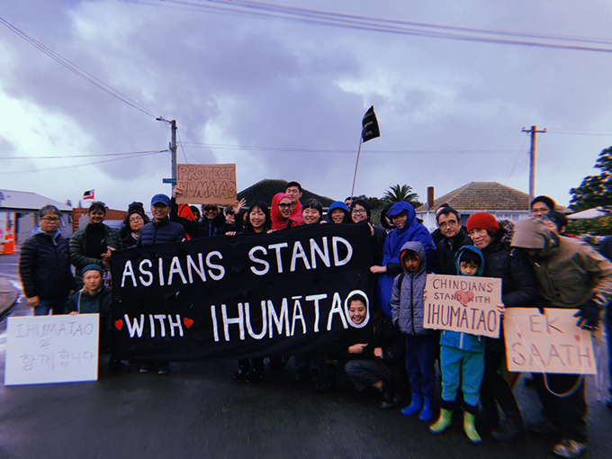 "Asians Supporting Tino Rangatiratanga … ""We're trying to demystify [the history] and build bridges."" Image: Asians Supporting Tino Rangatiratanga/Facebook"