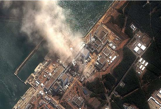 A digitalglobe view of the Fukushima Daiichi nuclear power plant in Japan. Photo: Allvoices