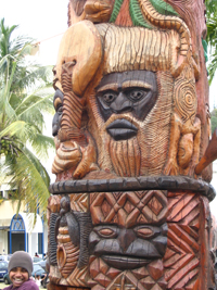 Celebrating Kanak identity … the Mwa Ka statue in Noumea. Image: Nic Maclellan.