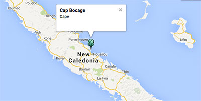 Cap Bocage in New Caledonia. Image: Google Maps
