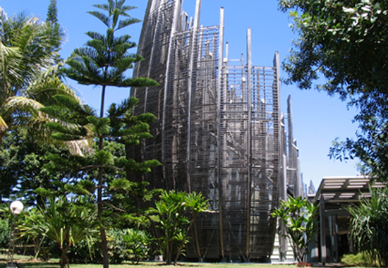 The Tjibaou Cultural Centre in Noumea. Image: Nic Maclellan