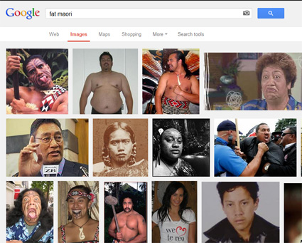 The URL fat.maori.nz redirects you to this Google images page. Image: Google