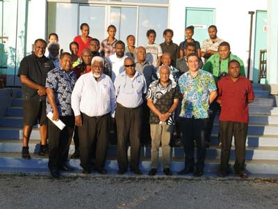 Kilman with attendees, including journalists, after the meeting. Image: Jane Joshua/ VDP