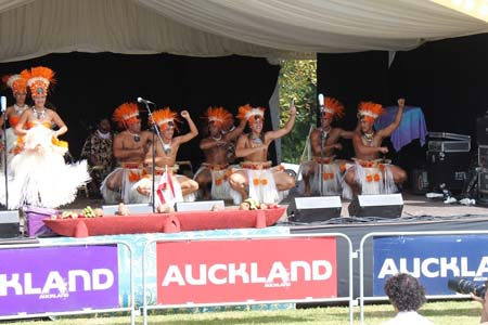 Tahitian dancers at the Pasifika Festival. Photo: Yvonne Brill/PMC