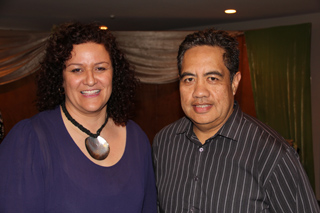 PIMA secretary Sandra Kailahi with former PIMA chair and Tagata Pasifika veteran John Utanga. Photo: Alex Perrottet/PMC